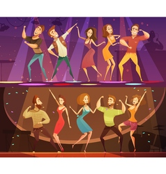 Night club disco dance banners set vector