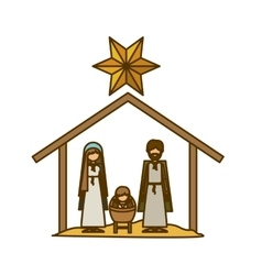 Isolated holy family and nativity design vector