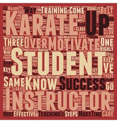 How karate instructors can motivate students in vector