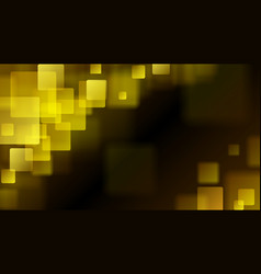 Yellow abstract background of blurry squares vector