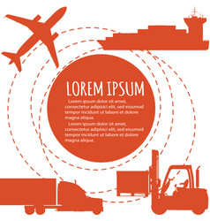 Worldwide freight shipping business company poster vector