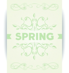 Spring word with leaves swirly vector