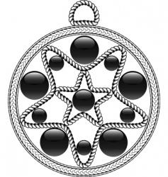 algerian pendant vector image