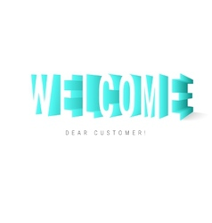 Welcome message vector