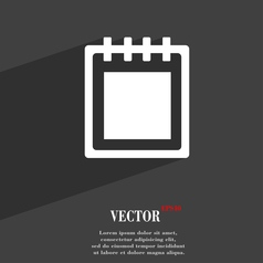 Notepad icon symbol flat modern web design with vector