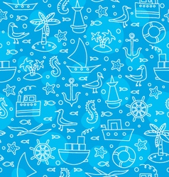 Blue sea pattern vector