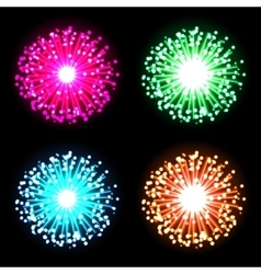 Festive firework bursting in glowing sparkles vector