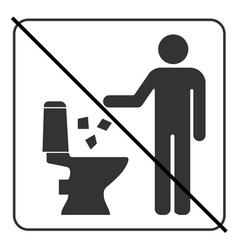 Do not litter in toilet icon 4 vector