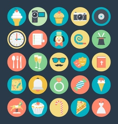 Celebration and party colored icons 2 vector