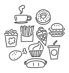 icon food vector image