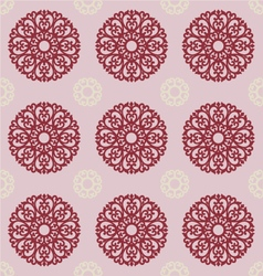 Filigree ornament on gray background for design vector
