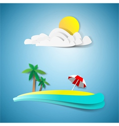 Tropical paradise vector