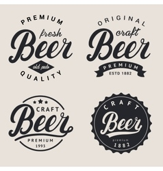 Set of lettering beer logo Logotype label and vector image
