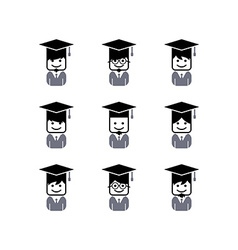 Academic college student avatar vector