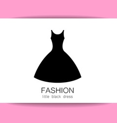 Fashion dress template vector