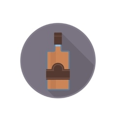 icon of alcohol bottle with good old rum vector image