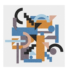Abstract geometric background in cubism style vector
