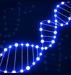 Abstract spiral of dna neon molecular background vector