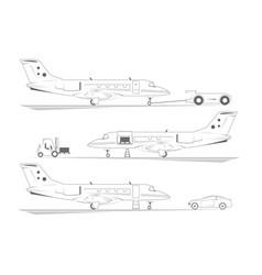 aircraft banners three scenes at airport vector image