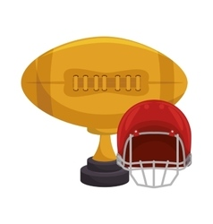 American football trophy award vector
