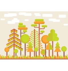 Autumn Tree Forest Flat vector image