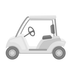 Car for golfgolf club single icon in monochrome vector