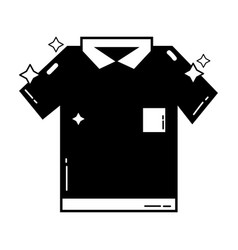 Contour clean shirt style design icon vector
