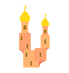Domes of mosque icon cartoon style vector