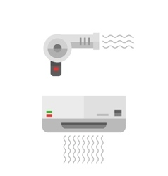 Fashion hairdryer tool vector image
