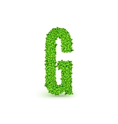 Green Leaves font G vector image vector image