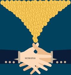 Handshake with Money Modern Flat design con vector image