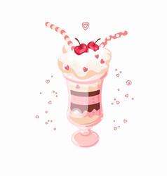 Ice cream cherry vector