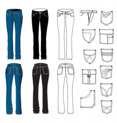 Jeans woman vector