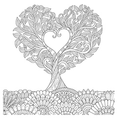 Love tree in oct coloring vector