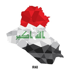 Map of Iraq vector image