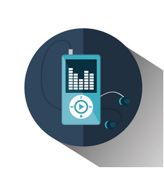 Mp3 music player isolated icon vector