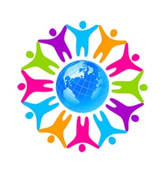 people unity vector image
