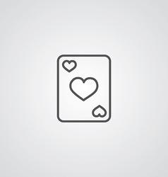 poker outline symbol dark on white background logo vector image