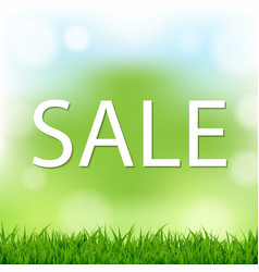 Sale poster with bokeh vector