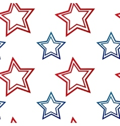 Samless pattern with red and blue stars vector