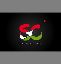 Sc s c alphabet letter logo combination icon vector