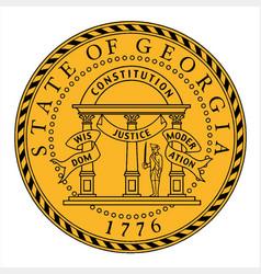 Seal of georgia vector