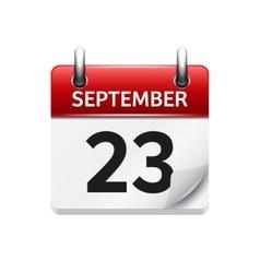 September 23 flat daily calendar icon vector