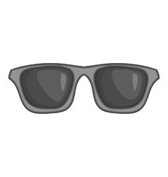 Summer glasses icon black monochrome style vector image