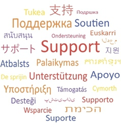 Support in different languages vector