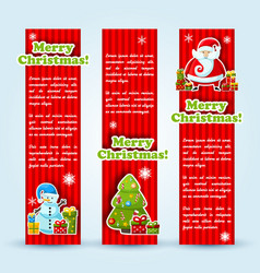 three red holiday banner set vector image vector image