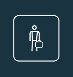 work man outline symbol premium quality isolated vector image vector image
