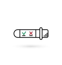 tube test analysis vector image