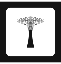 Artificial tree in singapore icon simple style vector