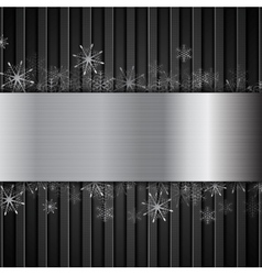 Concept new year background with metallic elements vector